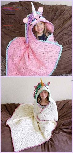 Crochet unicorn blanket pattern free ideas for 2019 Crochet Unicorn Blanket, Crotchet Blanket, Crochet Pony, Hand Crochet, Crochet Hats, Free Crochet, Crochet For Beginners Blanket, Crochet Toddler, Unique Crochet