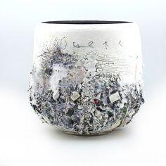 'Duepe' large bowl form, 28cm diameter - Sam Hall, Large Bowl, Vase, Ceramics, Abstract, Home Decor, Ceramica, Summary, Pottery