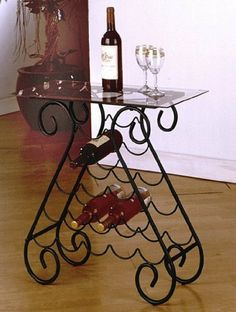 Metal Wine Rack Table Xmas Wish List