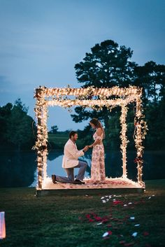 romantic proposal ideas with lightsYou can find Wedding proposals and more on our website.romantic proposal ideas with lights Proposal Pictures, Engagement Pictures, Wedding Engagement, Engagement Proposal Ideas, Marriage Pictures, Romantic Proposal, Perfect Proposal, Beach Proposal, Surprise Proposal