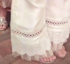 Best 12 Scallop Trousers – SkillOfKing.Com Sleeves Designs For Dresses, Dress Neck Designs, Blouse Designs, Stylish Dresses, Women's Fashion Dresses, Fashion Pants, Salwar Pants, Patiala Salwar, Sharara
