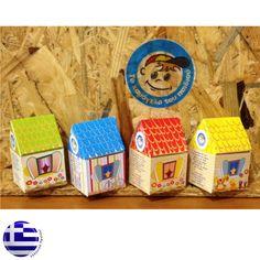 """(κωδ. ΜΠΒΠ-0102) Μπομπονιέρα """"Χάρτινο σπιτάκι """" :: Το Χαμόγελο του Παιδιού Decorative Boxes, Crafts, Google, Home Decor, Manualidades, Decoration Home, Room Decor, Handmade Crafts, Craft"""