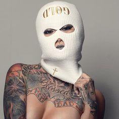 *** beanie *** tattoo Tattoo Girl Wallpaper, Lion Wallpaper, Gangsta Girl, Thug Fashion, Gucci Gang, Cholo Art, Thug Girl, Creation Art, Mask Girl