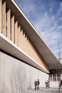 Architecture in concrete and wood
