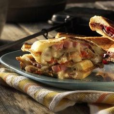 Ham & Jack Pudgy Pie - Pepper Jack cheese adds spicy flavor to these warm, melty sandwiches.
