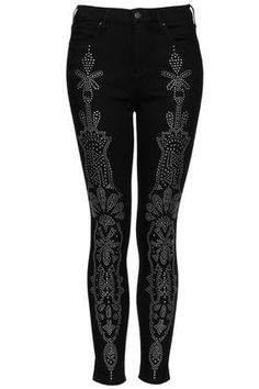Topshop MOTO Stud Embellished Leigh Jeans #style #black #fashion