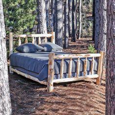 Do-it-yourselfers can enjoy big savings on these genuine Northern White Cedar Log Bed Kits.  Delivered free to 48 states. #cedar #log #bed #kit