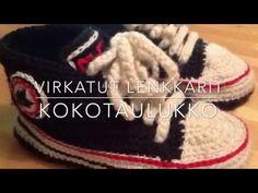 Virkatut Lenkkarit - kokotaulukko - YouTube