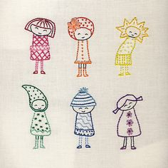 Saturday Stitches:I don't know why, but these Rainbow Girls just make me smile--downloadable pattern via Etsy.