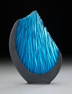 Alex Gabriel Bernstein via Granet Design Fused Glass, Stained Glass, Blown Glass, Vases, Cast Glass, Art Of Glass, Wow Art, Himmelblau, Chandeliers