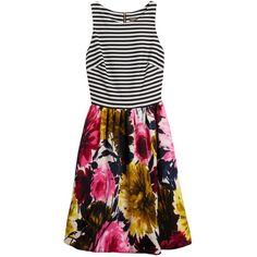 I NEED this Stitch Fix dress! Florals and stripes together - I die! Taylor Poe dress https://stitchfix.com/referral/4903273