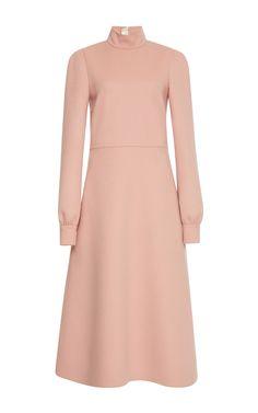 Wool Double Turtle Neck Dress  by ROCHAS for Preorder on Moda Operandi