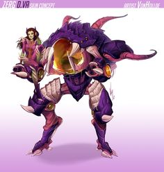 """blizzardinc: """" Zerg D.va inspired by the artwork of MrJack Geovanna Ramirez """" Overwatch Costume, Overwatch Drawings, Overwatch Comic, Overwatch Fan Art, Character Concept, Concept Art, Character Design, Character Ideas, Skins Characters"""