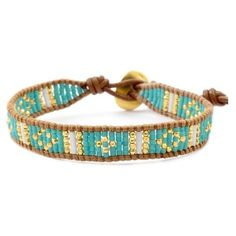 Chan Luu TURQUOISE MIX BEADED CUFF BRACELET ON BEIGE LEATHER ($105) ❤ liked on Polyvore featuring jewelry, bracelets, leather bracelet, engraved leather bracelet, wide cuff bracelet, wrap bracelet and bead bracelet