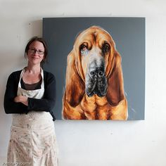 Dog paintings by Justine Osborne - modern dog portrait artist Poodle Drawing, Dachshund, Bloodhound Dogs, Labrador Puppies, Retriever Puppies, Corgi Puppies, Dog Artist, Dog Portraits, Portrait Images