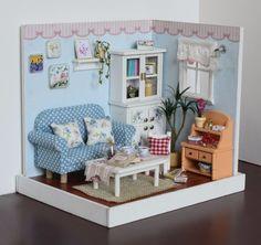 Doll House Furniture Diy Wooden Assembling Building Miniatura DollHouse Toys for Children Birthday Christmas gift Fresh house