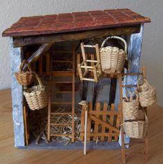Diy Nativity, Christmas Nativity Scene, Fontanini Nativity, Miniature Fairy Gardens, Miniature Houses, Wood House Design, Fairy Tree Houses, Decorated Wine Glasses, Mini Things