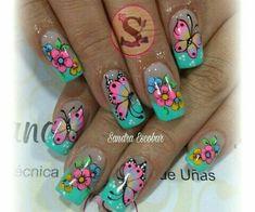 New Fails Design Cute Long Ideas Spring Nail Art, Spring Nails, Summer Nails, Nail Polish Art, Toe Nail Art, Fabulous Nails, Gorgeous Nails, Fingernail Designs, Nail Art Designs