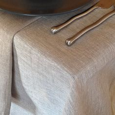 Rustic linen Tablecloth made in the US from eco by UrbanFlax