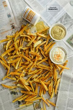 Homemade French Fries + Garlic Aioli Dipping Sauce