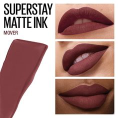 Superstay Matte Ink Liquid Lipstick leaves your lips with a flawless matte finish that will last all day and up to Superstay Matte Ink Liquid Lipstick features a unique arrow applicator for a more precise liquid lipstick application Maybelline Lipstick, Makeup Lipstick, Makeup Cosmetics, Hair Makeup, Lipsticks, Liquid Lipstick, Nude Lipstick, Kiss Makeup, Love Makeup