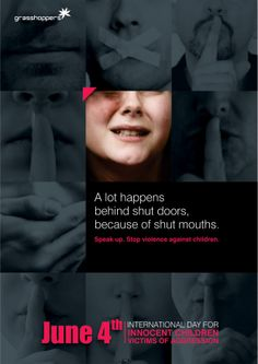 Stop violence against children! Take a stand now.