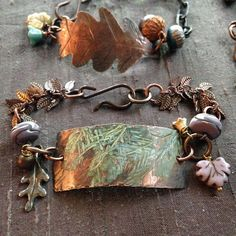 Inside the Studio with Humblebeads - Each week one of our contributors gives you a sneak peek into their studio, creative process or ins - Mixed Metal Jewelry, Copper Jewelry, Boho Jewelry, Jewelry Crafts, Beaded Jewelry, Jewelry Design, Tribal Jewelry, Wire Jewelry, Jewellery