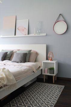 Metamorfoza sypialni z wykorzystaniem palety Hazy z kolekcji Tikkurila Color Now 2017 - blogerka Kamperki.com
