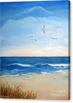 Buy a 16.00 x 20.00 stretched canvas print of Shelia Kempf's Flock of Three - Three Birds on the Beach for $90.00.  Only 9 prints remaining.  Offer expires on 05/29/2017.
