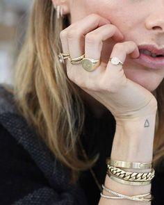 Crushing on Anine Bing's jewelry game.