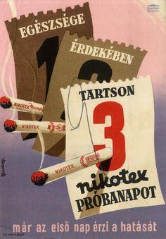 Macskássy Gyula - Egészsége érdekében tartson 3 Nikotex próbanapot, 1948
