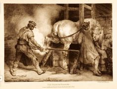 Theodore Gericault (French, 1791-1824). The Flemish Farrier, 1821. The University of Michigan Museum of Art, Michigan. Gift of Ruth W. and Clarence J. Boldt, Jr., 2008. http://www.umma.umich.edu