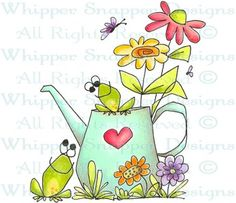 My Special Love - Frogs - Animals - Rubber Stamps - Shop