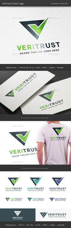 Veritrust Check  Logo Design Template Vector #logotype Download it here: http://graphicriver.net/item/veritrust-check-logo/10799492?s_rank=1209?ref=nexion