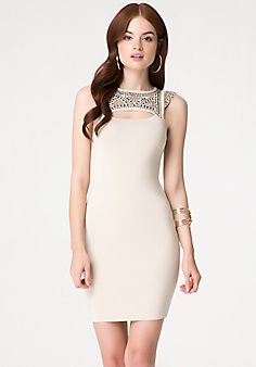 Embellished Peekaboo Dress