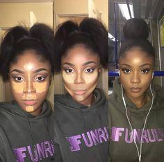 eye makeup tips Contour Makeup, Contouring And Highlighting, Flawless Makeup, Beauty Makeup, Eye Makeup, Makeup Case, Contouring Dark Skin, How To Blend Contouring, Makeup Eyebrows