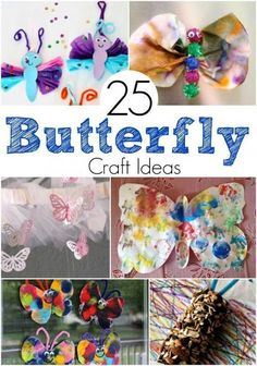 Looking for Spring craft ideas? My kids adore making colorful critters! Butterfly crafts are so much fun since anything goes with colors and wing size! And kids adore popping on those google eyes to bring their Butterfly to life after designing a colorful winged masterpiece!  Check out our roundup of 25 Awesome Butterfly Craft Ideas