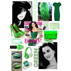 Katy perry- green. (If you have any suggestions on a celebrity you'd like to see with a specific color,comment below)