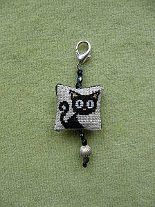 black cat mini cross stitch