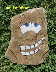Image result for painted rocks zombie
