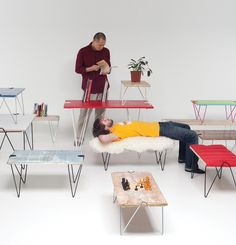 jakob schenk universal leg system.  You can just about make a table out of any flat object with these legs.