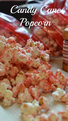 Make a delicious, quick holiday treat, and beat out some holiday frustration in the process. Holiday Treats, Christmas Treats, Christmas Recipes, Popcorn Recipes, My Recipes, Tasty, Yummy Food, Baking Tips, Candy Cane