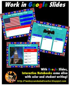What to do With Google Slides in an Elementary Classroom.  In this post, I have 5 suggestions on how to use Google Slides.  Here's an example of an online Interactive Notebook for Social Studies.