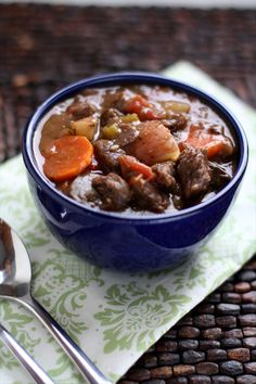 THE BEST Crockpot Beef Stew ~ www.ButterwithasideofBread.com #stew #crockpot #slow cooker