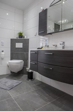Badezimmer on pinterest for Wc fliesen modern