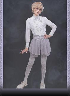 Susin -The Pilgrimage- Vintage Classic Ouji Lolita Short Pants Harajuku Fashion, Lolita Fashion, Clueless Fashion, Fashion Outfits, Mens Fashion, Other Outfits, Cute Outfits, Moda Lolita, Japanese Street Fashion