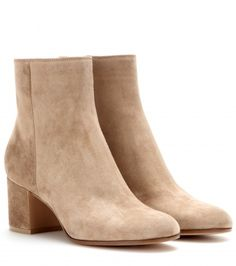 Gianvito Rossi - Suede ankle boots love love loveeee #mytchecklist