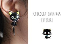Polymer Clay Earrings Tutorial: Chococat from Sanrio (+playlist)