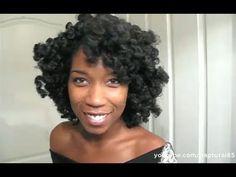 Natural Hair Bantu Knot Out