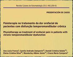 PDF: Fisioterapia no tratamento da dor orofacial de pacientes com disfunção temporomandibular crônica   Ovi Dental